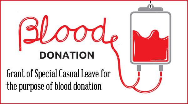 Special-Casual-Leave-blood-donation