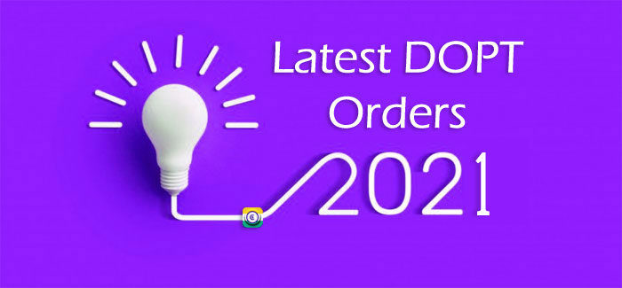 Latest DoPT Orders 2021 today